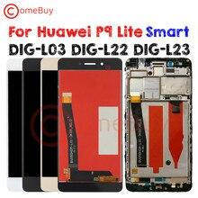 Comebuy תצוגה עבור Huawei P9 לייט חכם LCD תצוגת DIG L03 L22 L23 מגע מסך עבור Huawei P9 לייט חכם תצוגה עם מסגרת