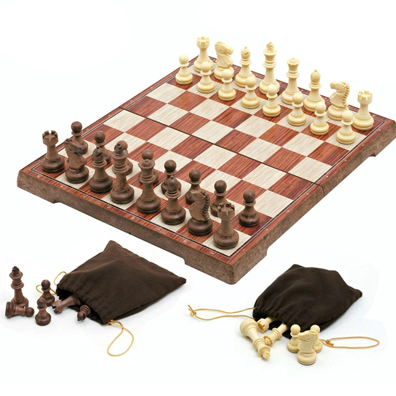 International Chess Set Folding Plastic With Magnetic Chess …