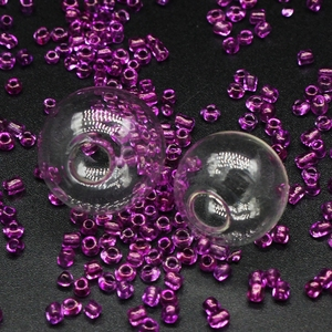 Image 5 - 200sets 14mm 18mm Empty Glass globe Ball and Glass Orb caps Charms pendants glass vials Wish Bottles glass balls orbs