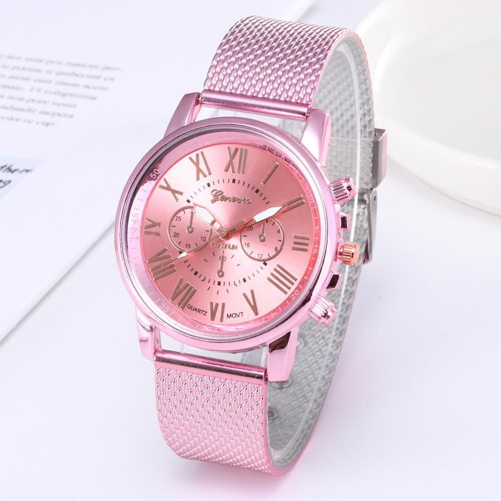 Hot Fashion Women's Watches Geneva Brand Simple Quartz Watch For Woman Female Clock Montre Femme Relogios Feminino Drop Shipping(China)