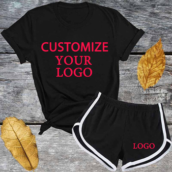 Custom Cheap Crop Top And Shorts Set Printed and Girl T Shirts Team Set For Kid Women halter printed fringed crop top for women