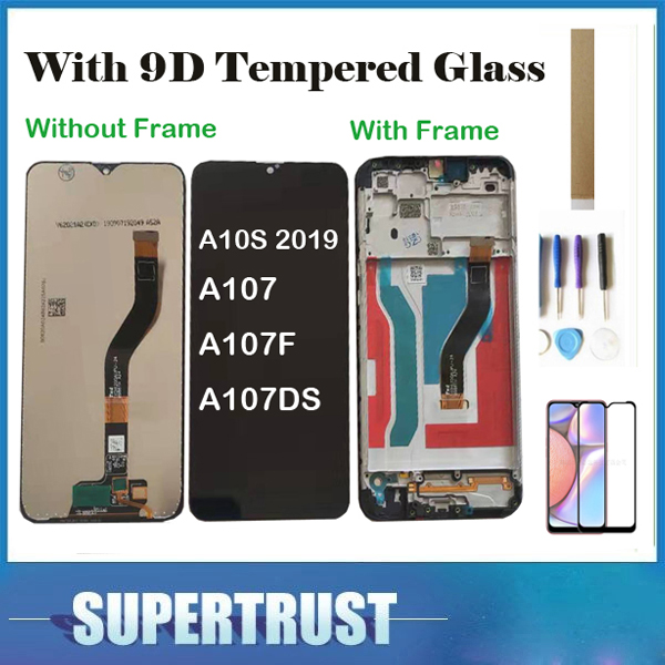 Without/With Frame With Tempered Glass ORIGINAL For Samsung Galaxy A10S 2019 A107 SM-A107F SM-A107DS LCD Display Touch Sensor image