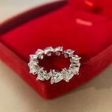 Роскошное Брендовое женское кольцо обручальное вечернее с бриллиантами