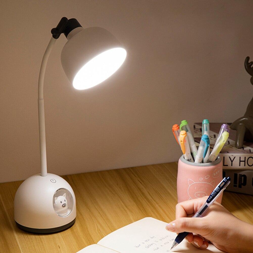 Настольная лампа с мультяшным рисунком, светодиодный светильник с сенсорным управлением, зарядка по USB, лампа для чтения Flexo Eye Protect, 3 режима, ...