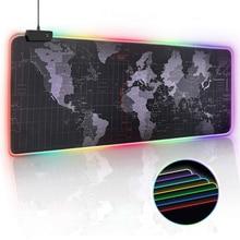 RGB עכבר משחקי משטח גיימר גדול גדול מחצלת עכבר משטח עכבר מחשב Led תאורה אחורית XXL משטח מוס כרית מקלדת שולחן מחצלת