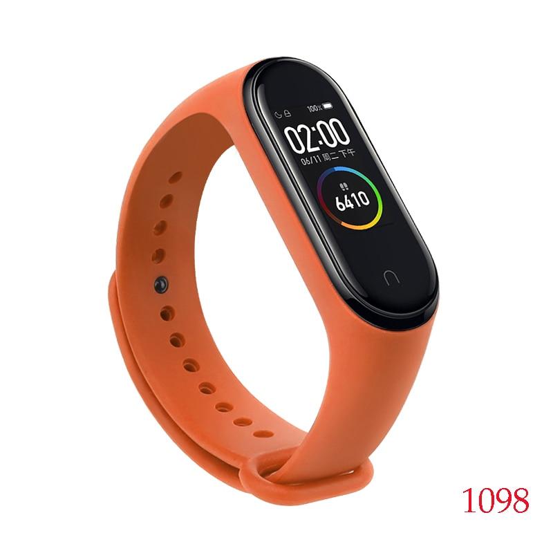 Для Xiaomi Mi Band 4/3 ремешок Металлическая пряжка силиконовый браслет аксессуары miband 3 браслет Miband 4 ремешок для часов М - Цвет: 1098