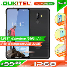 Oukitel Y1000 6.088 ''IP68 Tahan Air Smartphone Rugged 2GB 32GB MT6580P Face ID Sidik Jari 9.0 Ponsel 3600 MAh(China)