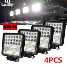 CO LIGHT – lampe de travail Super brillante 4 pouces, 63W, faisceau combiné 5D 12V 24V pour ATV UAZ SUV 4x4 camion tracteur LED