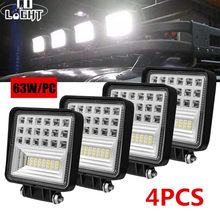 CO ışık süper parlak 4 inç 63W Offroad LED ışık Bar 5D Combo işın 12V 24V ATV UAZ SUV 4WD 4x4 kamyon traktör LED çalışma ışığı