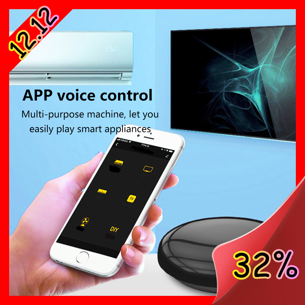 Wifi-IR Remote Control 14m Tuya Smart IR Wireless Voice Alexa Control 10,000 Product Furlife Phone APP Mini TV Remote Control