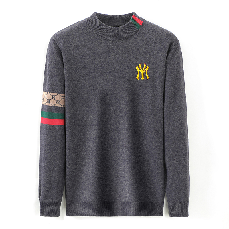 Top Grade New Autum Winter Designer Fashion Brand Luxury Knit Half Turtleneck Men Warm Woolen Sweater Casual Mens Clothing 2021 3
