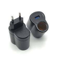 Cargador USB para mechero de coche, convertidor inteligente de CA a CC, 220V a 12V, 220