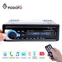 Podofo 1din in dash rádios de carro estéreo controle remoto digital bluetooth áudio música estéreo 12v rádio do carro mp3 player usb/sd/AUX IN