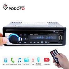 Podofo Stereo Empfänger 1DIN In-Dash Auto Radios 12V Bluetooth Autoradio MP3 Player Radio Kassette Recorder 1 Din fernbedienung
