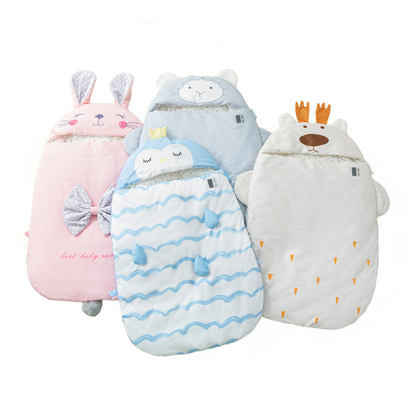 Baby Sleeping Bags Newborn Winter Warm Swaddling Wrap Toddler Blanket Cute Animal Characters Design Patterns Sleepsack