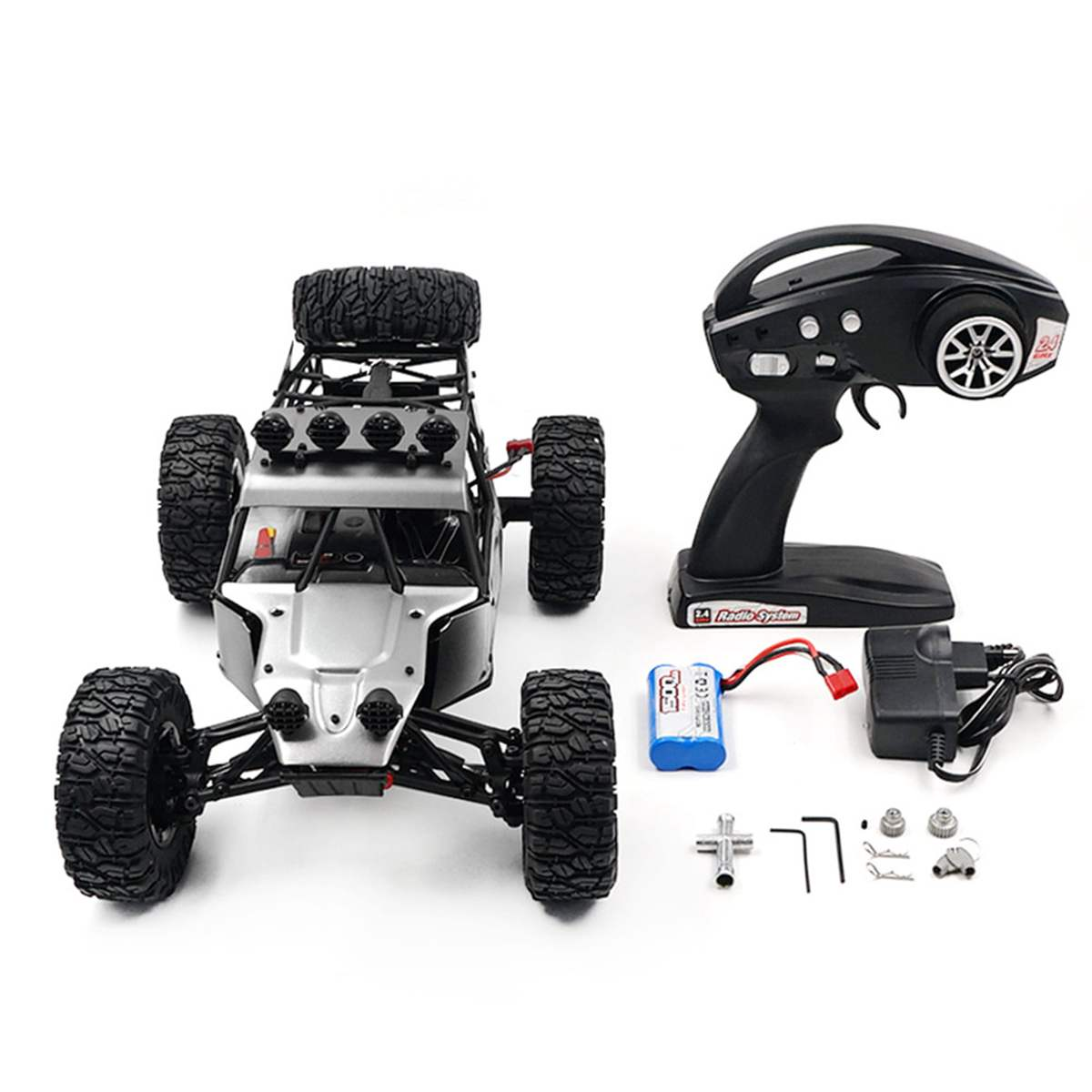 Feiyue FY03H <font><b>RC</b></font> Car 1:12 2.4Ghz 4WD Radio Control Car <font><b>Brushless</b></font> <font><b>Motor</b></font> Metal Body Shell Crawler Off-road Car RTR Toys Gifts image