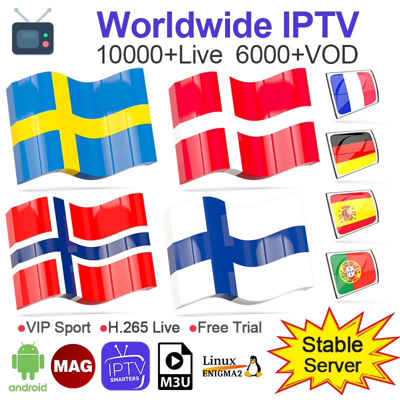 IPTV Subscription Spain M3u 1 Year NETV Code IPTV Sweden Poland Finland Android Smart Tv Mag IOS IPTV Albania Nordic Dutch IP TV