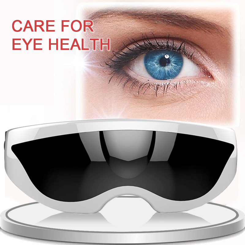 USB Eye Massager glasses Eye Relax Vibration Acupressure Alleviate Fatigue Stress Relief Relax Forehead massage Eye Care
