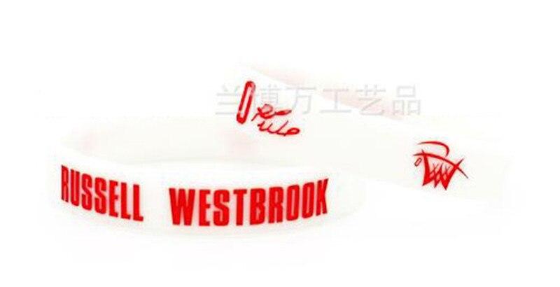 도매 100pcs 농구 스포츠 팔찌 실리콘 팔찌 고무 팔찌 westbrook 팬 선물로-에서뱅글부터 쥬얼리 및 액세서리 의  그룹 2