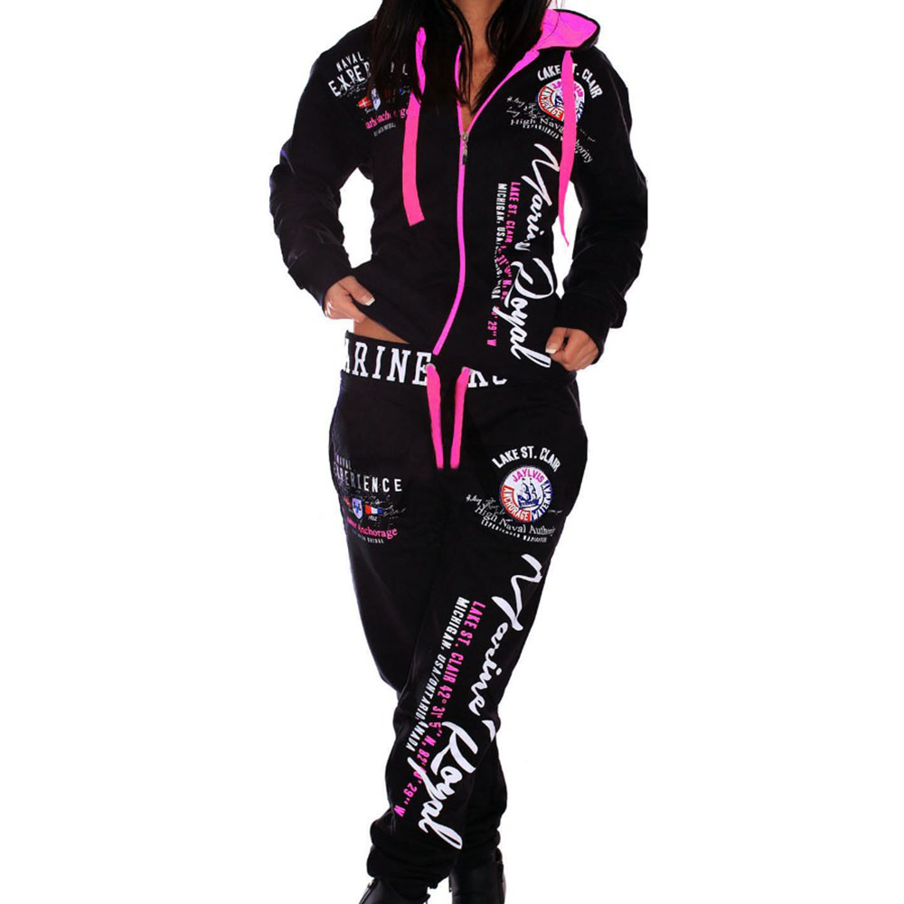 ZOGAA Brand New Two Piece Sets Woman Joggers Suit Sets Swearsuits For Women Long Suit Set Womens Tracksuit Printed Clothing