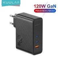 KUULAA 120W GaN USB C caricabatterie Quick Charge 4.0 3.0 QC tipo C PD caricabatterie USB veloce per Macbook Pro iPad iPhone Samsung Xiaomi