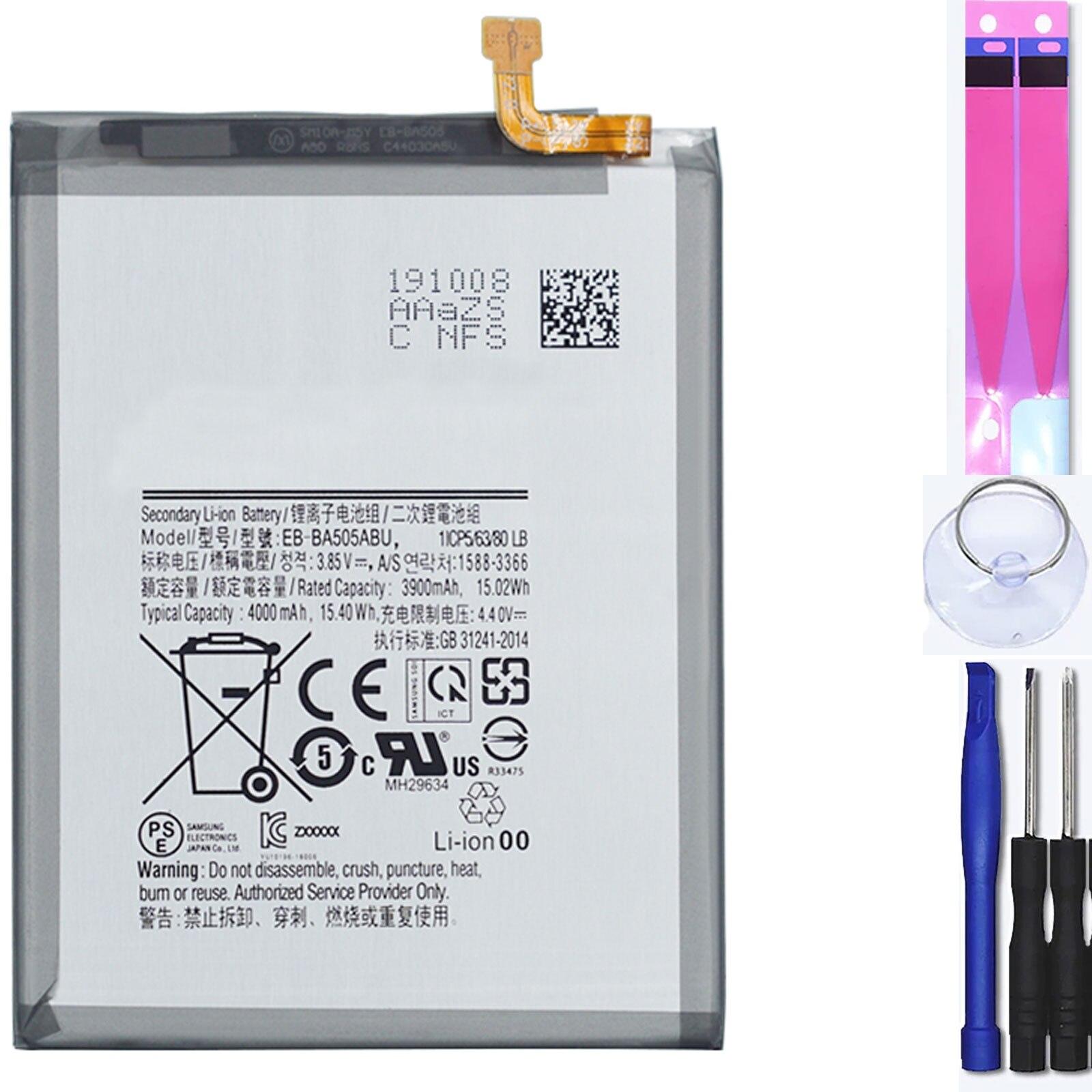 Внутренняя батарея для Samsung Galaxy A50 A30 A20 A505F, оригинальный Mpn Eb Ba505Abu Аккумуляторы для мобильных телефонов      АлиЭкспресс
