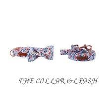 Floral Bow Tie Collar & Leash Set