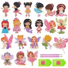20Pcs 5D DIY Diamond Painting Stickers Kits Handmade Princesses Art Cute for Kids and Adult