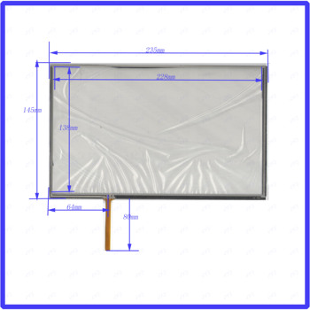 wholesale 5PCS/Lot  235*145mm 10.1inch 4lines resistance screen  this is compatible 235mm*145mm