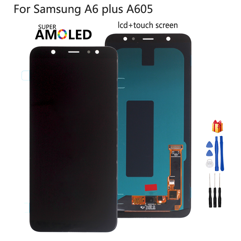 For <font><b>Samsung</b></font> <font><b>Galaxy</b></font> <font><b>A6</b></font> Plus <font><b>A6</b></font>+ A605 SM-A605F LCD <font><b>Display</b></font> Screen Replacement For <font><b>Samsung</b></font> A605FN A605G A605GN Screen LCD Amoled image