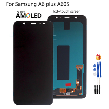 For Samsung Galaxy A6 Plus A6+ A605 SM-A605F LCD Display Screen Replacement For Samsung A605FN A605G A605GN Screen LCD Amoled