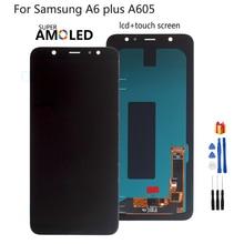 Para Samsung Galaxy A6 Plus A6 + A605 SM A605F, reemplazo de pantalla LCD para Samsung A605FN A605G A605GN, pantalla LCD Amoled