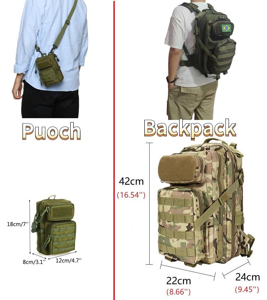 Sac à dos tactique Molle de Camouflage pour hommes, accessoire de sport en plein air, alpinisme, Camping, randonnée, Business