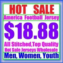 18,88 Горячая Распродажа, Майки для игры в американский футбол, Майки Дешевые, Аутентичные, спортивные, мужские, женские, молодежные, Детские майки, сшитые