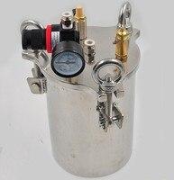 الكربون الصلب الفولاذ المقاوم للصدأ موزع خزان الضغط السائل الاستغناء دلو 1-5L