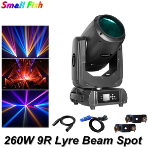 2Pcs/Lot 260W 9r Beam Spot Moving Head Light With 16 DMX Channels Linear Dimming DMX512 Stage Lights Professional Music Stage DJ Stage Lighting Effect     -
