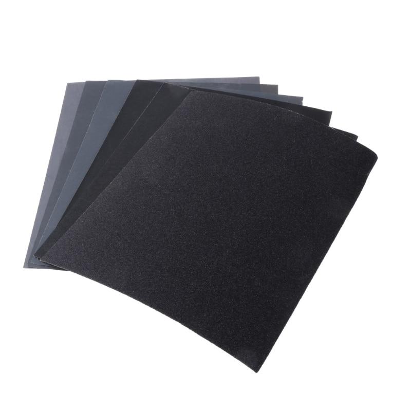 2pcs 100/240/400/600/1000/2000 28x23cm Grit Aluminium Sanding Paper Oxide Wet Dry Abrasive Metal Wood Abrasive Tools #RW1209