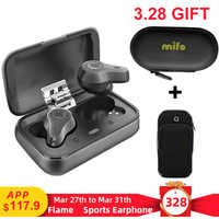 Mifo O7 Double Balanced Aptx True Wireless Earbuds Noise Reduction TWS V5.0 Bluetooth Earphone Sport Waterproof mini with Mic