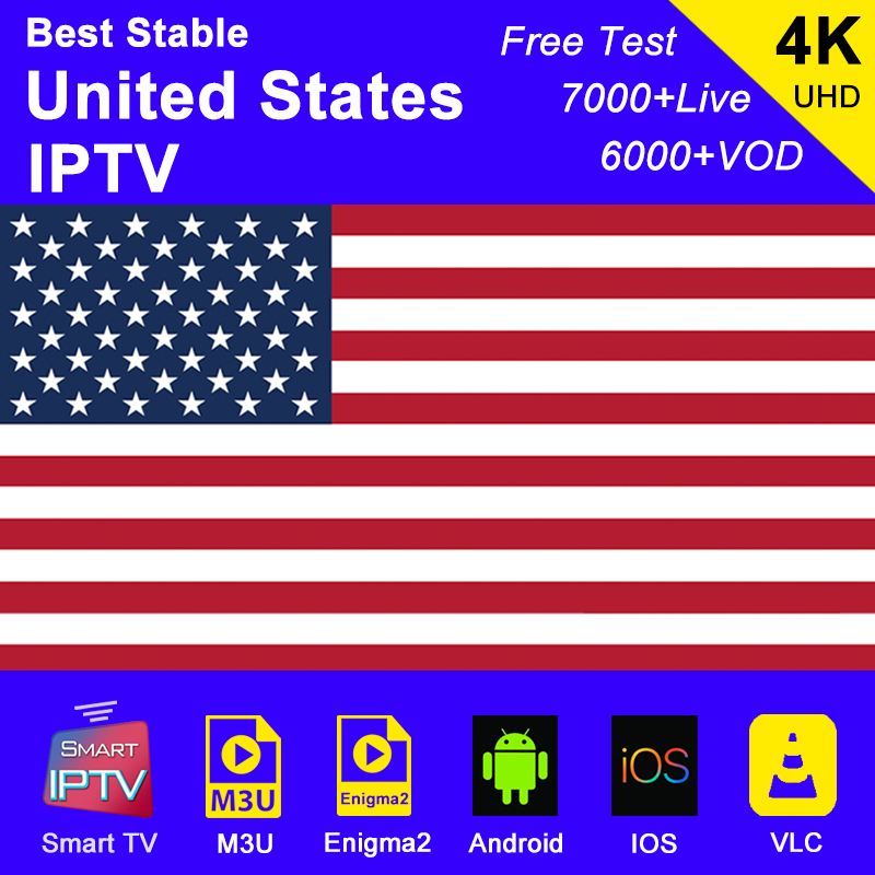 America Iptv Subscription M3u Abonnement Iptv USA Canada Spain France Germany Italy Portugal Android Smart Ip Tv Box Enigma2 PC