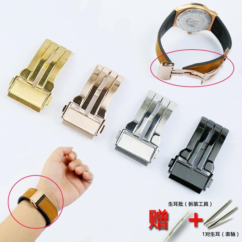 Watch Accessories For HUBLOT Series Stainless Steel Folding Buckle 18mm 20 22mm 24mm Sports Waterproof Hublot Strap Steel Buckle