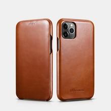 Custodia per telefono originale in vera pelle di lusso Vintage per iPhone 12 mini 11 Pro Max Xs Max XR X 8 7Plus Full Edge Flip Cover chiusa