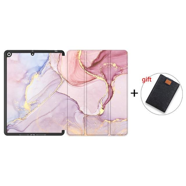IPTPU06 Yellow MTT Soft TPU Back Case For iPad 10 2 inch 7th 8th Gen Marble PU Leather