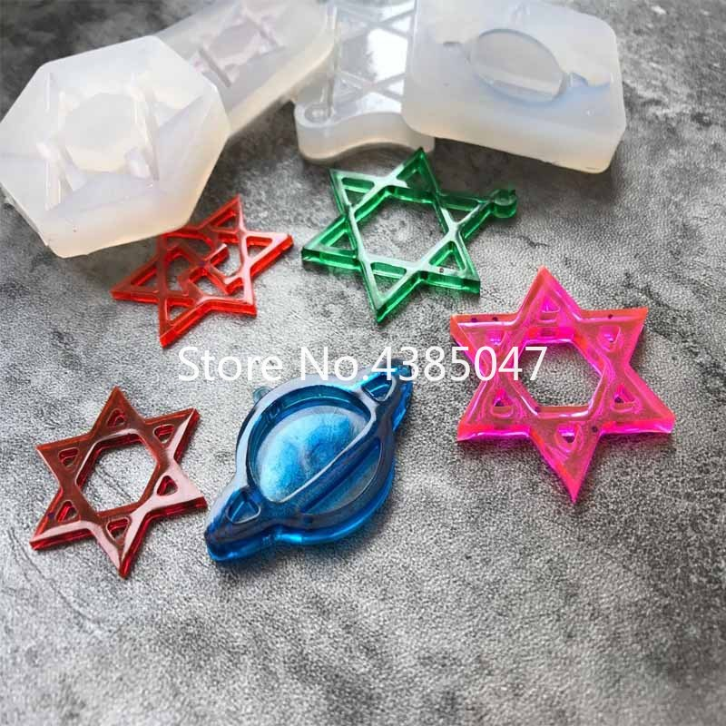 1PC Star Planet Liquid Silicone Expoxy Mold Resin Jewelry Mold UV Pendant Jewelry Accessories Handcraft Jewelry Tool