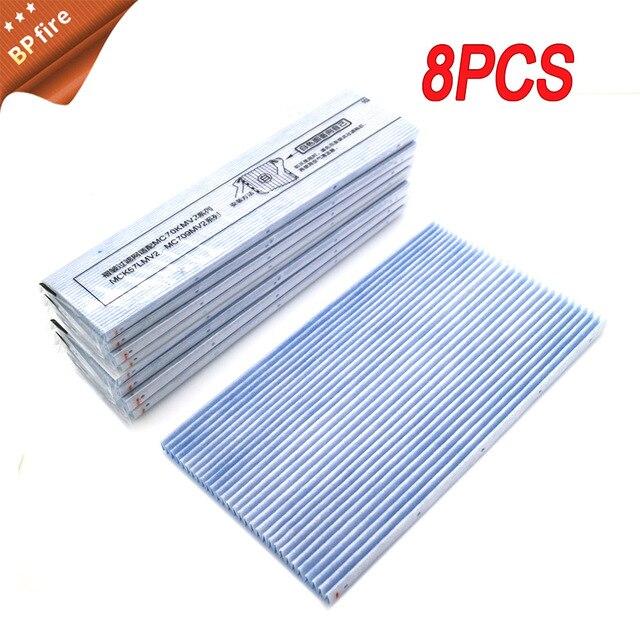 Filtro delle parti del purificatore daria della sostituzione 8pcs per la serie MC70KMV2 di DaiKin MC70KMV2 la serie ha condotto il filtro MC709MV2 MC70KMV2N MC70KMV2R
