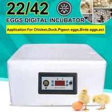 Caixa de incubação 22/42 ovos incubadora digital automático adequado para incubação lagartos cobra réptil caixa de reprodução com iluminação led