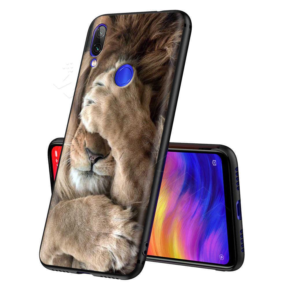 Leone Alpha Male per il Caso di Xiaomi Redmi Nota 8 MI 3 6 8 9 A1 A2 A3 8A 6X 9T CC9 Lite SE Pro Max F1 10