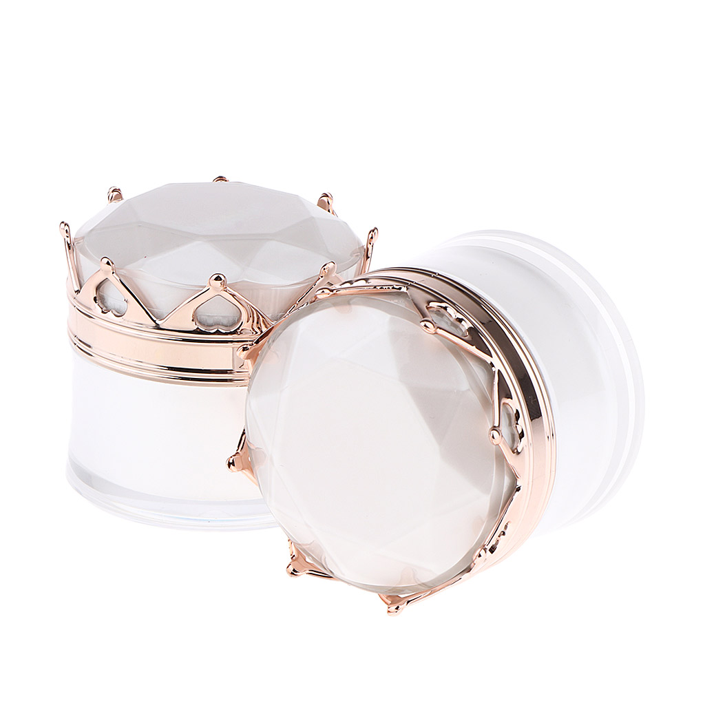 2 Pcs Empty Container Jars With Screw Lids For Makeup Cream Lotion Lip Balm