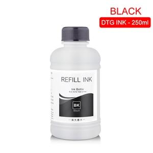 Image 2 - Tinta textil DTG de 250 ML/Set, para Epson DX5 DX7 R330 1390 1400 R1900 R2000 F2000 F2100 (BK C M Y pretratamiento blanco)