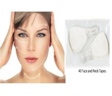 40 قطعة/المجموعة غير مرئية رقيقة الوجه الوجه ملصقات الوجه خط للتجاعيد مترهل الجلد V-شكل الوجه رفع الشريط للوجه