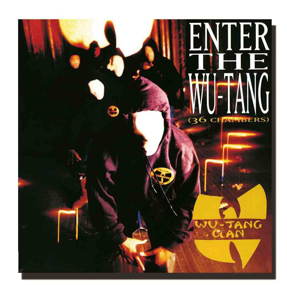 Z288 Wu Tang Clan Rap Group Hip Hop Music Album Silk Cloth Poster Wall Picture Decoration Room12x12 24x24in